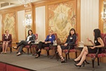 Women in Treasury Asia Forum 2014 panellists on stage