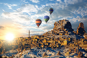 Hot air balloons over Turkey