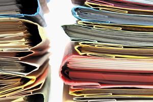 Stacks of full folders