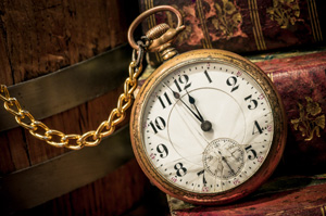 Broken old fashioned pocket watch