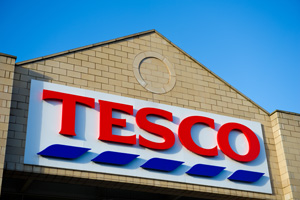 Tesco shop sign