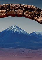 Volcano in the Atacama Chile desert