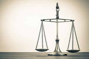 Law justice scales