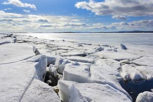 Broken sea ice