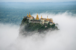 Myanmar temple in the clouds