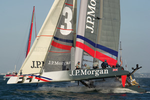 J.P. Morgan Great Britain sailing boat