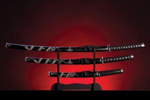 Three japanese swords