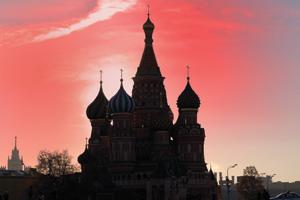 Sunrise in Moscos, Russia