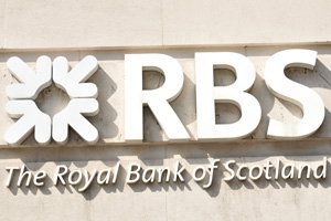 RBS sign on the side of building