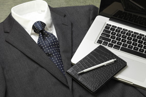 Business suit and equiment