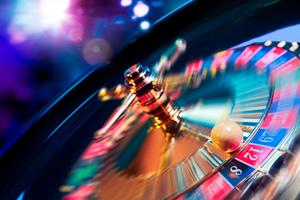 Roulette wheel spinning