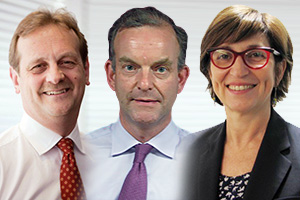 Tony Richter, Ian Blackburn and Michèle Zaquine, HSBC