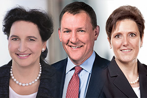 Gräfin Carola von Schmettow, Stephen Price and Gabriele A. Schnell, HSBC Germany