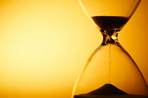 Sand timer running out of time