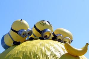 Minions hunting banana