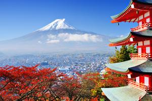 Beautiful landscape in Japan