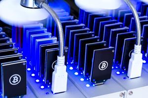 Bitcoin USB sticks in dock