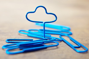 Paperclip stretch into shape of cloud