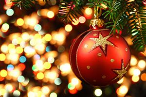 Close up of hanging Christmas baul baul