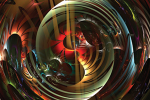 Abstract colourful image of swirls