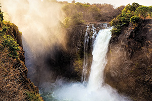 Victoria falls waterfall in a beautiful setting