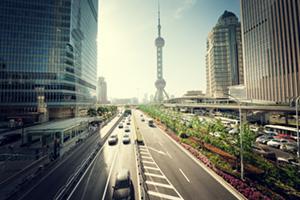 Road in Shanghai