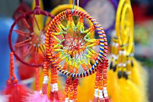 Colourful dreamcatchers