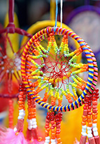 Colourful dreamcatchers