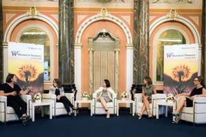 Women in Treasury London Forum 2016 panellists on stage