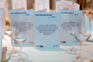 Adam Smith Awards Asia menus