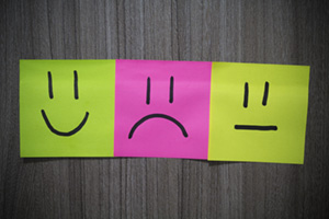 Sticky notes with different emotions