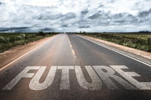 Future written on road
