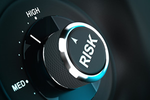 Risk dial switching between medium and high