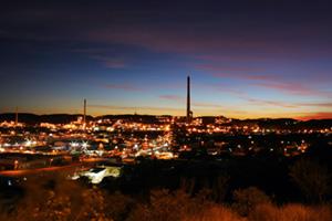 Mining city in Australia