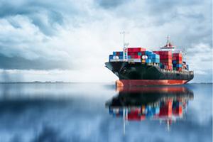International container cargo ship transporting good overseas