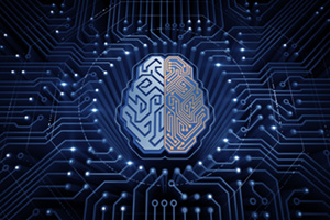 Cybernetic brain on electronic chip board