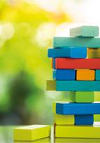 Colourful game of Jenga