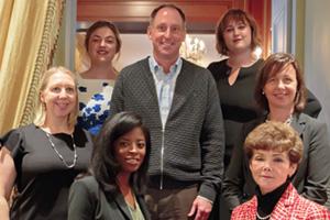 Group photo of the Women in Treasury New York Forum 2017 panel