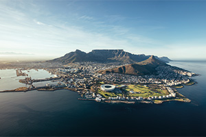 Coastal view of Cape Town, Africa