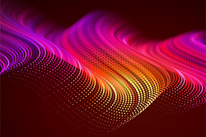 Abstract digital wave effect