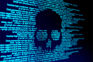 Skull appearing in computer code