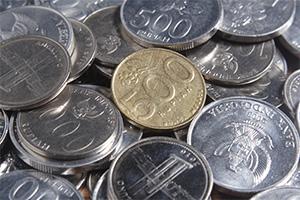 Bunch of rupiah coins