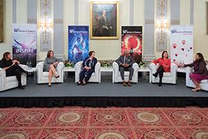 Women in Treasury London Forum 2018 full panel on stage