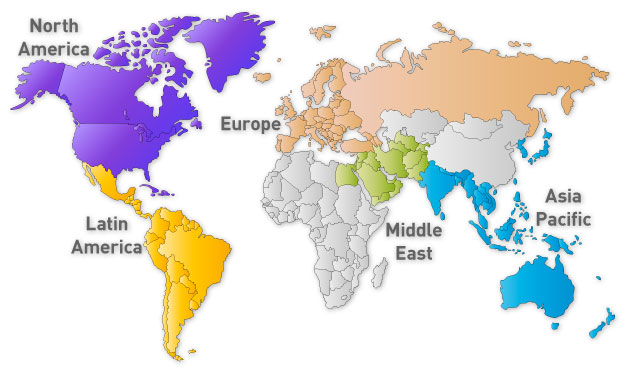 World map for Treasury Today benchmarking