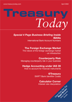 Treasury Today April 2002 magazine
