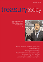 Treasury Today January 2004 magazine cover