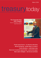 Treasury Today March 2004 magazine cover