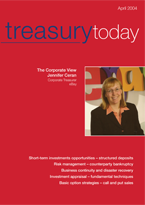 Treasury Today April 2004 magazine cover