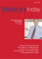 Treasury Today May 2004 magazine cover