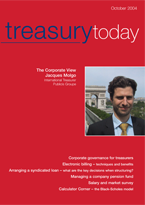 Treasury Today October 2004 magazine cover